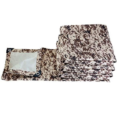 Enjoy4Life - Lona impermeable para tienda de campaña, lona para camping, refugio de huella, hamaca para lluvia, mosca y suelo, para exteriores, senderismo, playa, picnic, 450 g/㎡ (tamaño: 2 x 3)