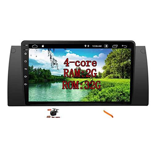 """XISEDO Android Autoradio In-dash Car Radio 9"""" Car Stereo Navigatore GPS con Schermo di Tocco e Lettore per BMW E39 X5 E53 (E53)"""