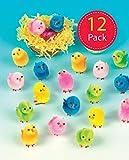 Baker Ross EK237 Lots de Mini Poussins Doux Colorés - Idéal pour Les Décorations pour Pâques - Version Anglaise