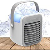 Portable Air Conditioner, Enklen Portable Air Cooler, Small Desktop Fan 3 Degree Changeable Angle Adjustable Compact Super Quiet Personal Table Fan Mini Evaporative Air Circulator Cooler, Suitable for Bedside, Office and Study Room