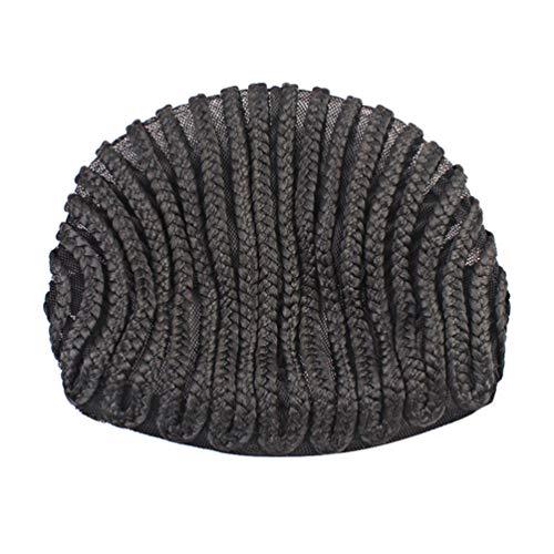 LIOOBO 4pcs tressé bonnet d'armure coudre dôme perruque casquettes cap cornrow pour coudre plus facilement dans les cheveux pour faire des perruques de tressage