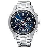 Reloj de Cuarzo Seiko Neo Sports, Azul y Negro, Cronógrafo, SKS603P1
