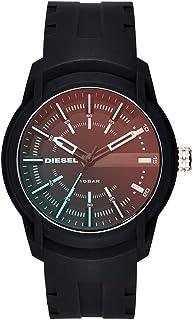 Diesel Armbar Men's Black Dial Silicone Analog Watch - DZ1819