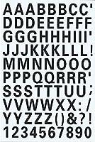 (シャシャン)XIAXIN 防水 PVC製 アルファベット ナンバー ステッカー セット 耐候 耐水 ローマ字 数字 キャラクター 表札 スーツケース ネームプレート ロッカー 屋内外 兼用 TS-539 (1点, ブラック)