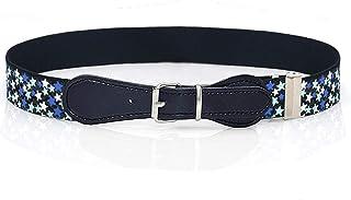 Girls Belt Fashion Adjustable Elastic Belt with Metal Buckle for Jeans Pants Dress