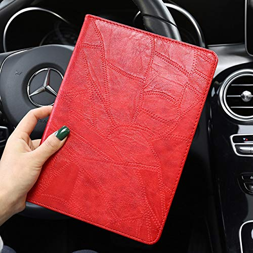 HHF Tab Accessories For iPad Air 3 10.5in 2019, Luxury pu Leather Business Folio tablet Stand Smart Cover For iPad pro 10.5 2017 Case bag (Color : Red)