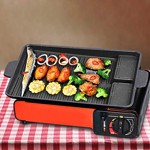 JIECIKOU BBQ GRILL PLATE HOUSEHOLD RECTANGLE METAL BARBECUE FRYING GRILL PAN NON-STICK & HEAT RESISTANT COOKWARE BBQ PLATE DIY PICNIC COOKWARE FOR HOME KITCHENS CAMPING BLACK