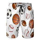 LJKHas232 151 Shorts de Playa para Hombre, bañador, bañadores Deportivos para fútbol, Baloncesto, béisbol XL