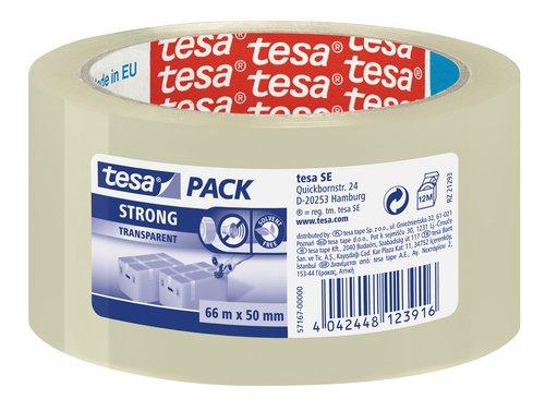 Tesa 57167-00000-05 - Cinta adhesiva transparente, 50 mm x 66 m, 6 unidades