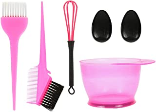 Anself 5PCS Hair Dye Color Brush and Bowl Set Ear Caps Dye Mixer Hair Tint Dying Coloring Applicator