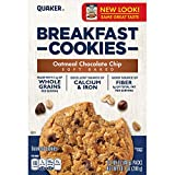 Quaker Breakfast Cookies, Oatmeal Chocolate Chip, 6 Cookies Per Box,net weight 10.1 ounce(288g),...