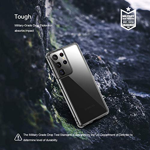 QITAYO Hybrid Clear Kompatibel mit Samsung Galaxy S21 Ultra 5G Hülle,Transparent Silikon Handyhülle Schutzhülle Case Crystal Clear für Samsung Galaxy S21 Ultra 5G