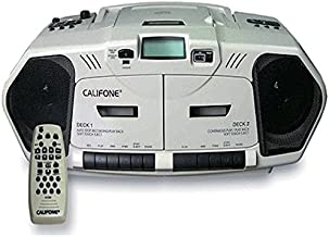 Califone 2395AV-02 Music Maker Plus Dual Cassette Recorder with CD, AM/FM, 6 Watts RMS