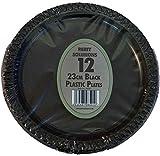 Lot de 60 assiettes en plastique Noir 23 cm