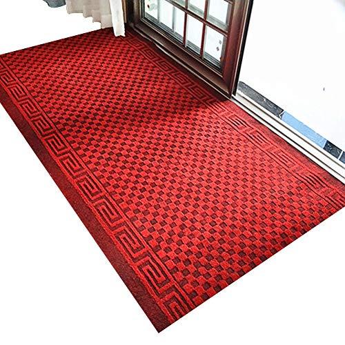 ZENGAI-Läufer Teppich Flur Läufer Teppich Flur Modern Gestreift Gitter Flur Teppich Schneidbar Teppich Haushalt Halle Gang Treppe Läufer Teppiche (Farbe : Rot, größe : 0.9x6m)