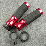 Empuñaduras De Manillar De Motocicleta Universales CNC De 7/8'Barra De Mano para Manillar De Bicicleta De Tierra para R-izoma para K-awasaki Z750 Z800 Z1000 VERSYS 1000 Puños (Color : Red)
