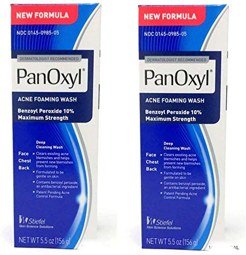 PanOxyl 10% Acne Foaming Wash 5.5 Ounce ( Value Pack of 2)
