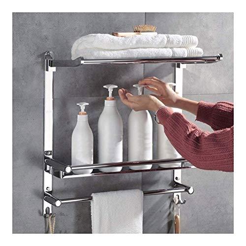 ZWJ Folding handdoekhouder, 304 van roestvrij staal, voor badkamer, inklapbaar, 60 cm lang, 11-18