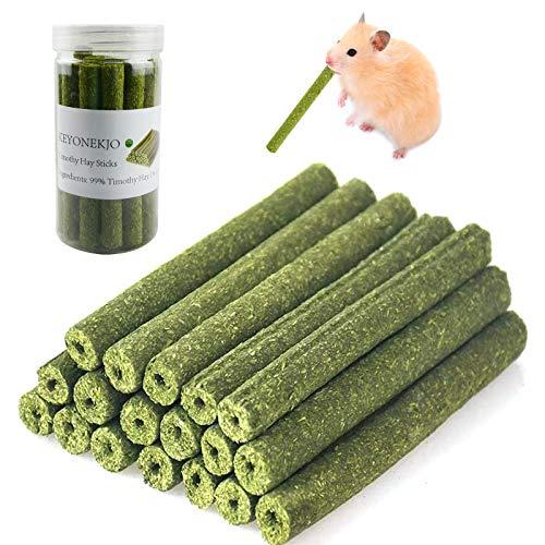Timothy Heu Sticks Kaninchen Spielzeug für Kaninchen, Meerschweinchen, Hamster, Chinchilla, Häschen, Kauspielzeug für Zähne, Leckerli Zubehör