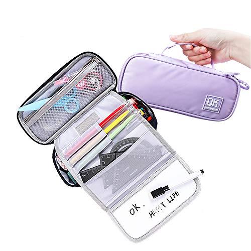 Anyingkai Multifuncional Estuche de lápices,Bolsa de lápiz Portable Estuche Organizador,Estuche para Iapices,Bolsa de Papelería,Multifuncional Estuche de lápices de Gran Capacidad