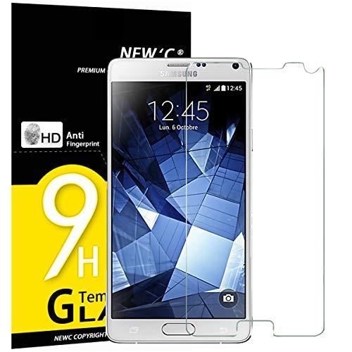 NEW'C PanzerglasFolie Schutzfolie für Samsung Galaxy Note 4, [3 Stück] Frei von Kratzern Fingabdrücken und Öl, 9H Härte, HD Displayschutzfolie, 0.33mm Ultra-klar, Displayschutzfolie Samsung Note 4