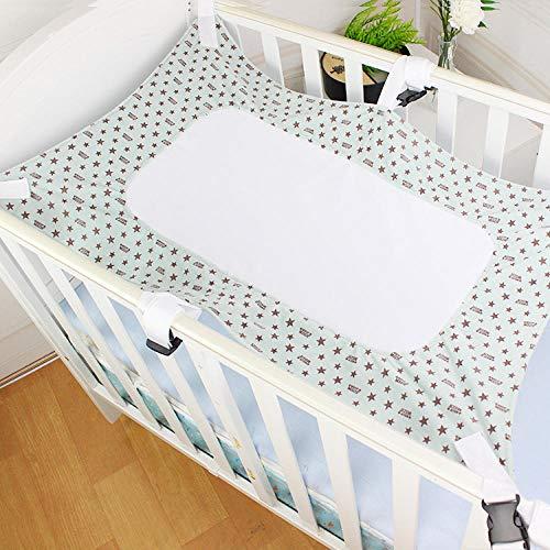 AOBAMA Baby Swing Portable Hammock Crib Hammock Cradle Breathable Comfortable Swing Baby Hammock-Green stars