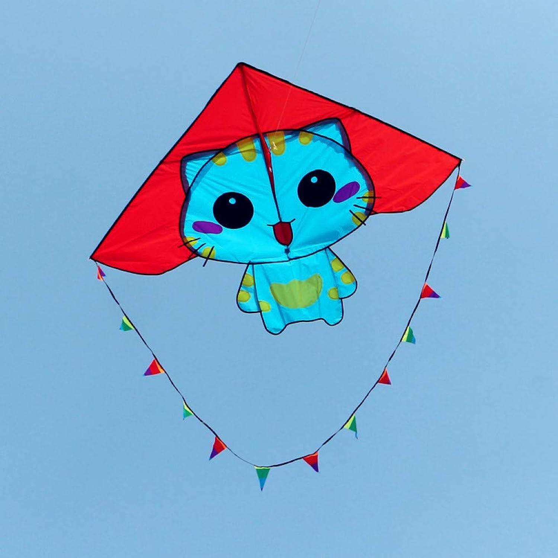 ZSYF Kite Cc Cats Kite With Handle Line Ripstop Nylon Fabric Kite Kite Animal Kite