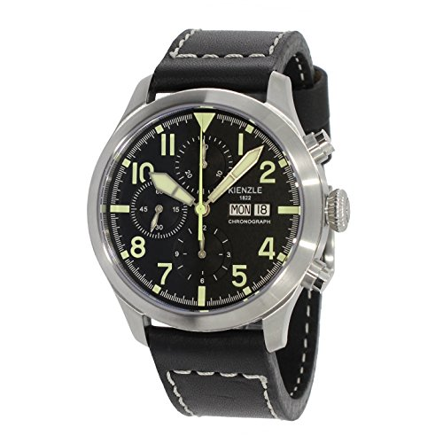 KIENZLE Uhr Chronograph ETA Analog mit Leder Armband K17-00323