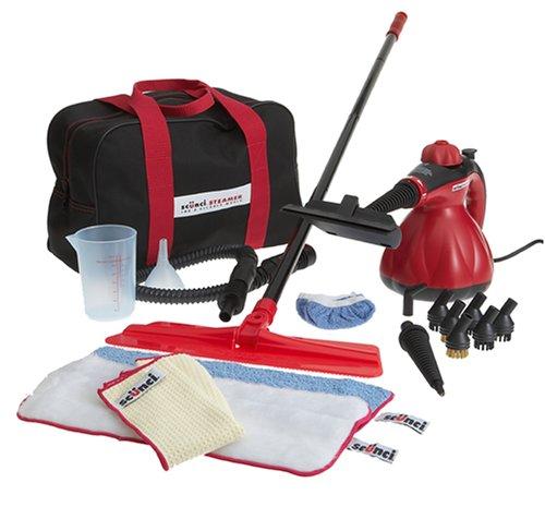 Scunci 52040 Handheld Steam Cleaner with Bonus Floor Mop Kit