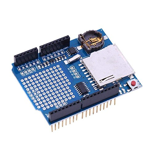 ICQUANZX Data Logger Module Logging Shield Shield de grabación de Datos para Arduino UNO con Tarjeta SD