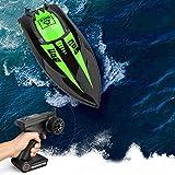 Barco Teledirigido, Teakpeak 2.4G Lancha Rápida RC Barco de Control Remoto de Alta Velocidad 40KM/H...
