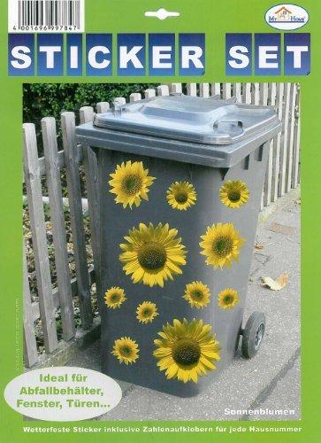 """My Home Mülltonnen-Sticker\""""Sonnenblumen\"""""""