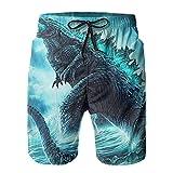Inaayayi Go-Dzi-Lla - Pantalones cortos de playa para hombre, pantalones cortos de baño clásicos de secado rápido, con múltiples bolsillos y forro de malla