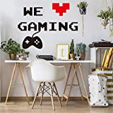 Video Game Wall Sticker Peel and Stick Removable Gaming Wallpaper Home Decor Poster Art Murals Decal for Boy Kid's Bedroom Living Room Decaoration (We Gaming)