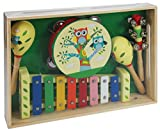 A B Gee lxs0167 Holz Musical Instrument Set mit Eule Design