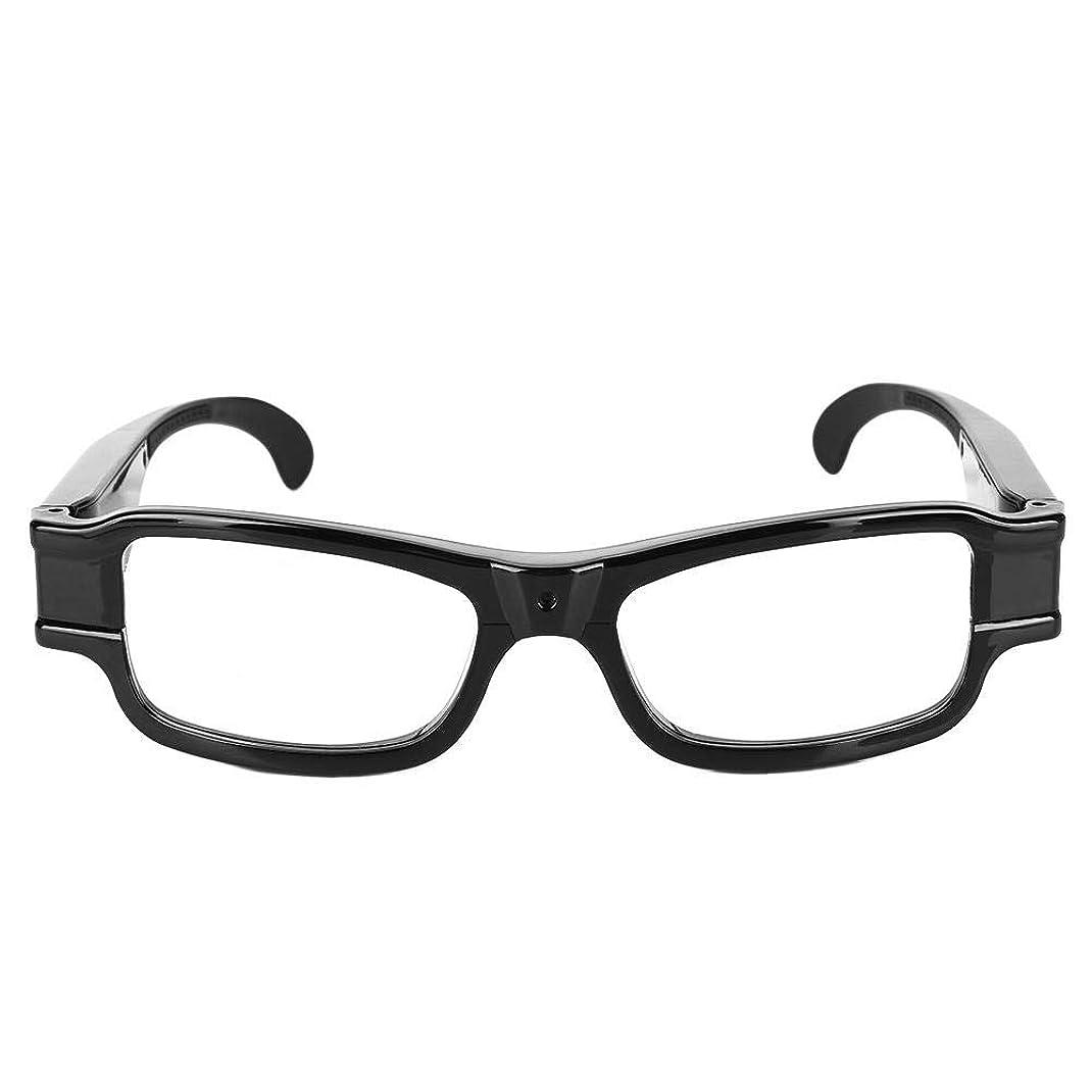 官僚音戻すビデオカメラ 1920 x 1080 P HDスパイミニ隠しカメラ メガネ型 DVメガネカムコーダー刑事記録オーディオ録音機能 サイクリング/狩猟/釣り/警察/旅行