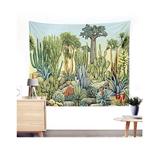 Miguor Dacron-Tuch aus Polyesterfaser, Kaktus, Sukkulenten, Wandteppich, Strandtuch, Decke, Heimdekoration, Dacron, 7. Waldkaktus, 200*150cm