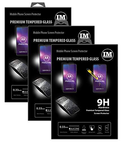 cofi1453 3X Panzer Schutz Glas 9H Tempered Glass Bildschirm Schutz Folie Bildschirm Glas Screen Protector kompatibel mit Motorola One Macro