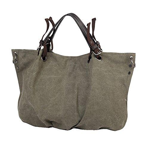 BYD - Donna Female School Bag Borse Tote Bag Travel Bag Canvas Bag Borse a mano Borse a spalla Shopping Bag with Multi Pockets