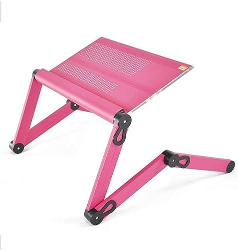 WLG Table-Prougeection de l'environneHommest Lit en Alliage d'aluminium avec Bureau pour Ordinateur portable