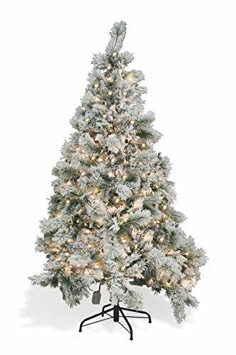 Galileo Casa 2424000 Albero Natale Vienna con Neve, 350 Luci e 774 Rami, PVC, Bianco
