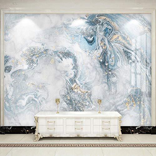 Modern Abstract Art Marble Wallpaper 3D-Luxury Living Room TV Sofa Bedroom Blue Background Wall Decor 3D-Murals
