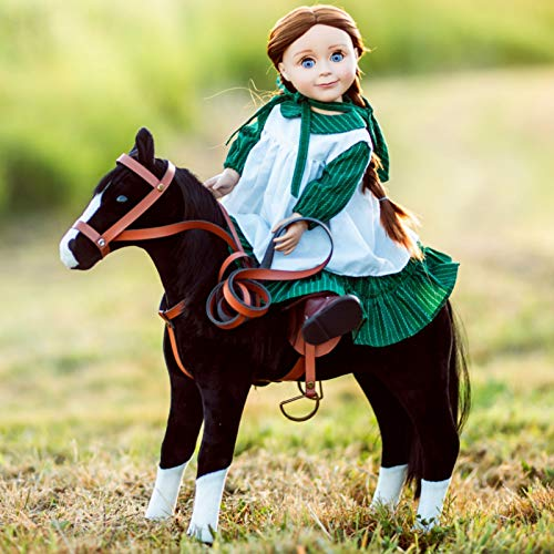 The Queen's Treasures Little House on The Prairie Pony, Western Mustang, Saddle and Blanket Compatible with 18 Inch American Girl Dolls & Accessories! .