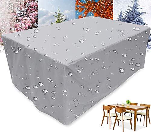 NXW Funda Mesa Cuadrada Jardín Funda Muebles Patio Terraza Impermeable Tela Poliéster Resistente al Desgarro al Aire LibrePoliéster Cubierta de Exterior