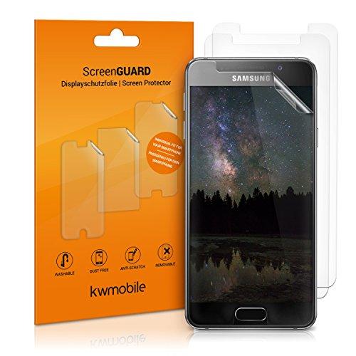kwmobile 3x Folie für Samsung Galaxy A3 (2016) - klare Bildschirmschutzfolie Bildschirmschutz Crystal Clear kristallklar Bildschirmfolie Schutzfolie