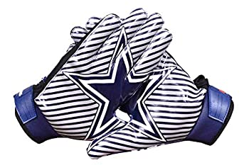 Lycos Gears Cowboys Football Gloves for Youth – Grip Boost Football Gloves in Purple Color for Kids and Adults – Made of Durable and Comfortable Material Adult- Large