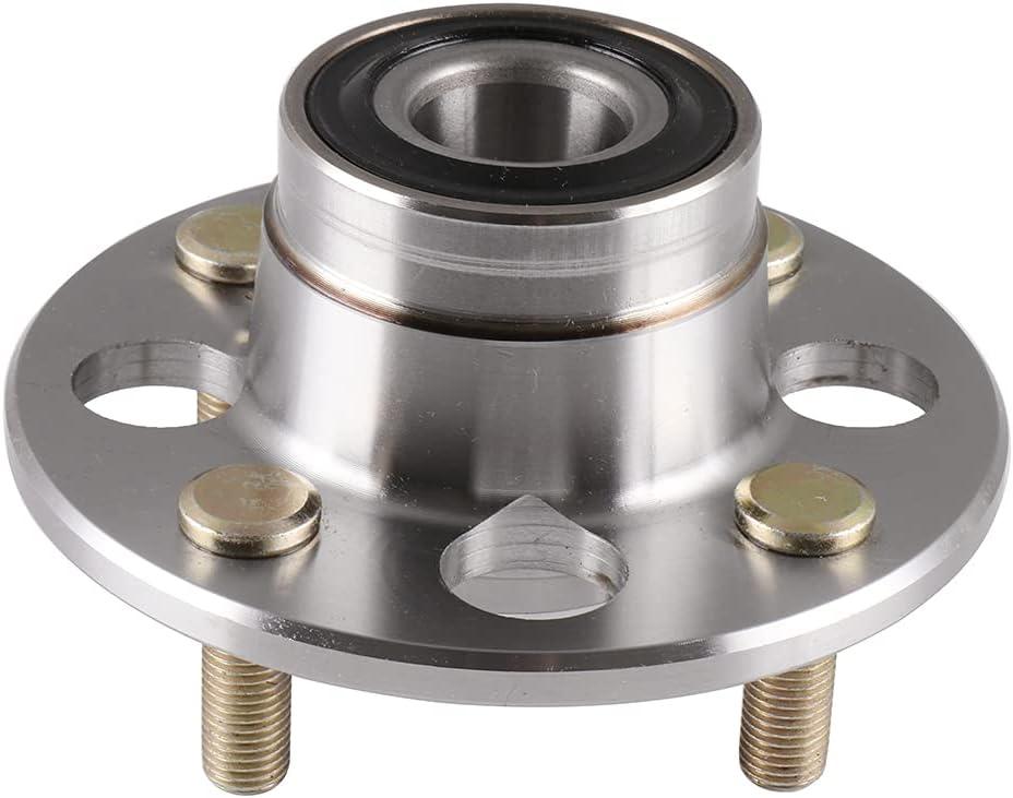 GDSMOTU mart Translated 1PC Rear Wheel Hub and 5 Bearing Assembly 4 Lugs Replace