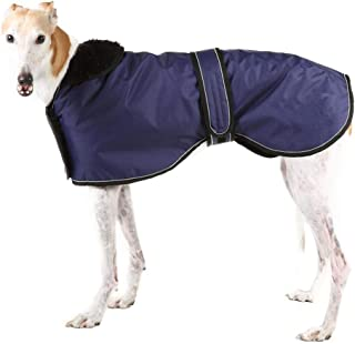 Ctomche Dog Coats with Reflective Bar,Dog winter coat Soft Polyester Fleece,Adjustable Band Dog Winter Jacket for Greyhounds,Lurchers and Whippets Pink-S