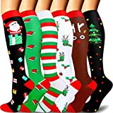 Compression Socks for Women and Men-Best Medical, for Running,Nursing,Circulation & Recovery, Hiking Travel & Flight Socks-20-25mmHg. (22-christmas special, S-M)