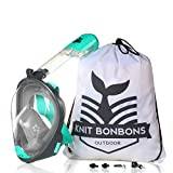 180° Panoramic View Snorkel Mask Full Face Scuba, Dive and Swim Set for Youth Adult Women Men | Easier Breath with Dry Anti-Fog Anti-Leak for Travel Beach Sea Underwater Swimming Pool